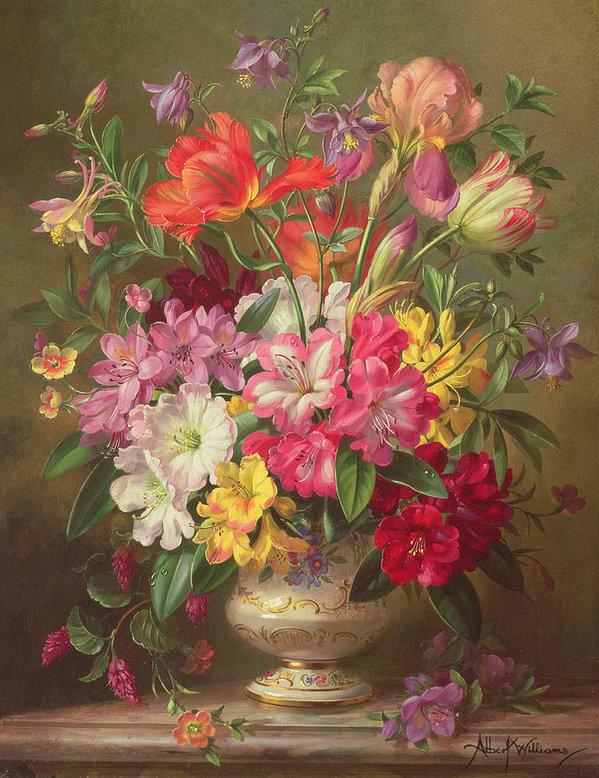 Edith Schmitz gratulerar med en blomsterbild (foto)