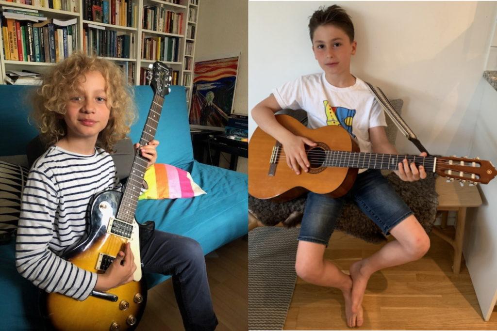 Cato Vang och Noel Memarzadeh spelar en egen låt